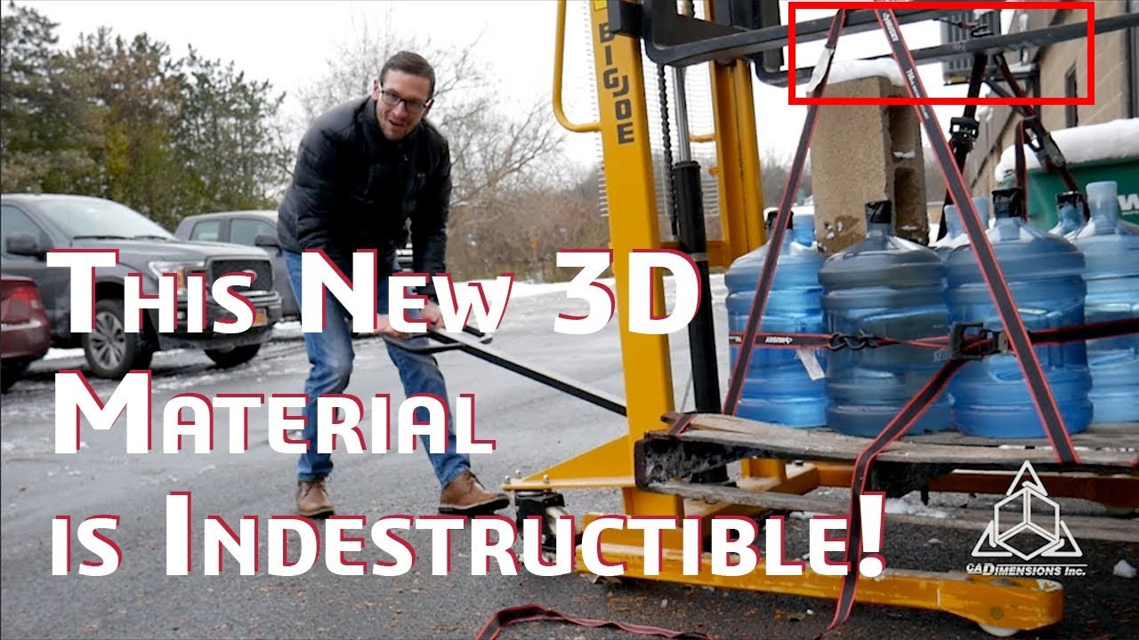 Torture Test: 3D Printed Rubber Chain Lifts over 500 LBS! TPU Material