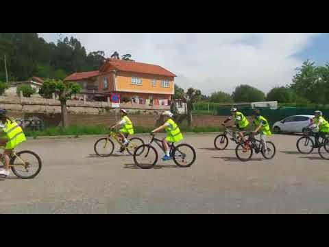 La bicicleta, protagonista en Poio gracias a la Policía y al Concello