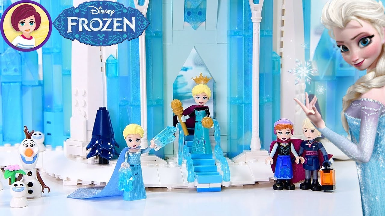 The inside of Elsa's Ice Castle (with amazing staircase ❄️) - Finishing Lego Frozen Castle Build