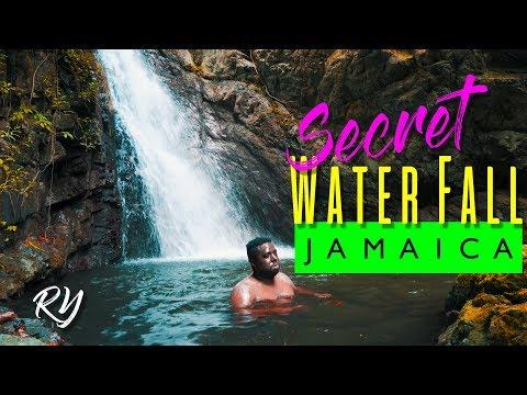 A Hidden waterfall in Jamaica-Gordon Town. (HD)
