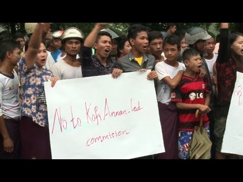 Myanmar Buddhists jeer ex-UN chief on peace mission