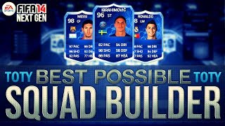 BEST POSSIBLE TEAM OF THE YEAR TEAM! w/ TOTY RONALDO | FIFA Ultimate Team Squad Builder