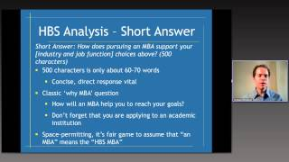 Harvard Business School MBA essay analysis and tips