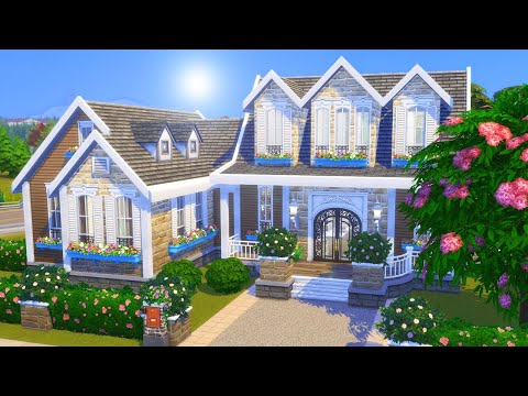 Large Suburban FAMILY HOME Speed Build | The Sims 4 No CC House Build
