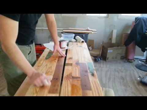 DIY Salvaged Wood Countertop- Sealing and Therapy