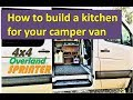 DIY kitchen cabinet for camper van