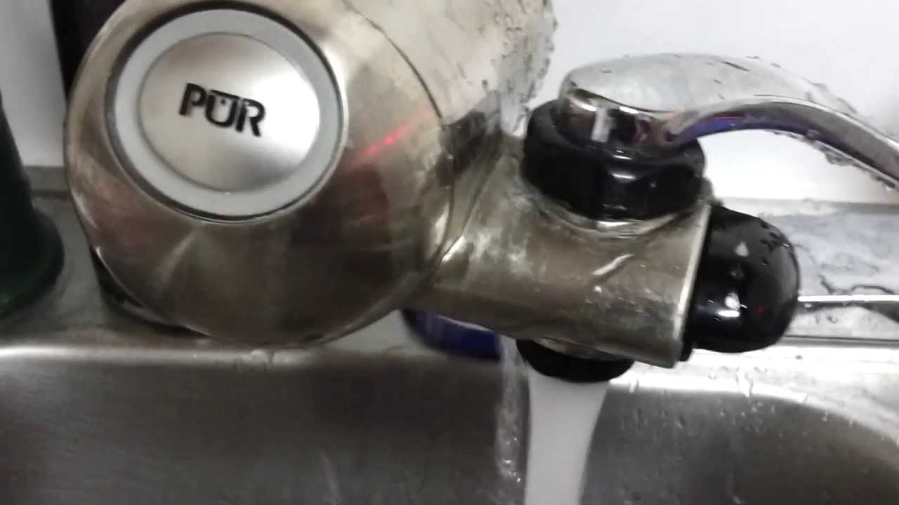 Pur Faucet Filter Fail - YouTube