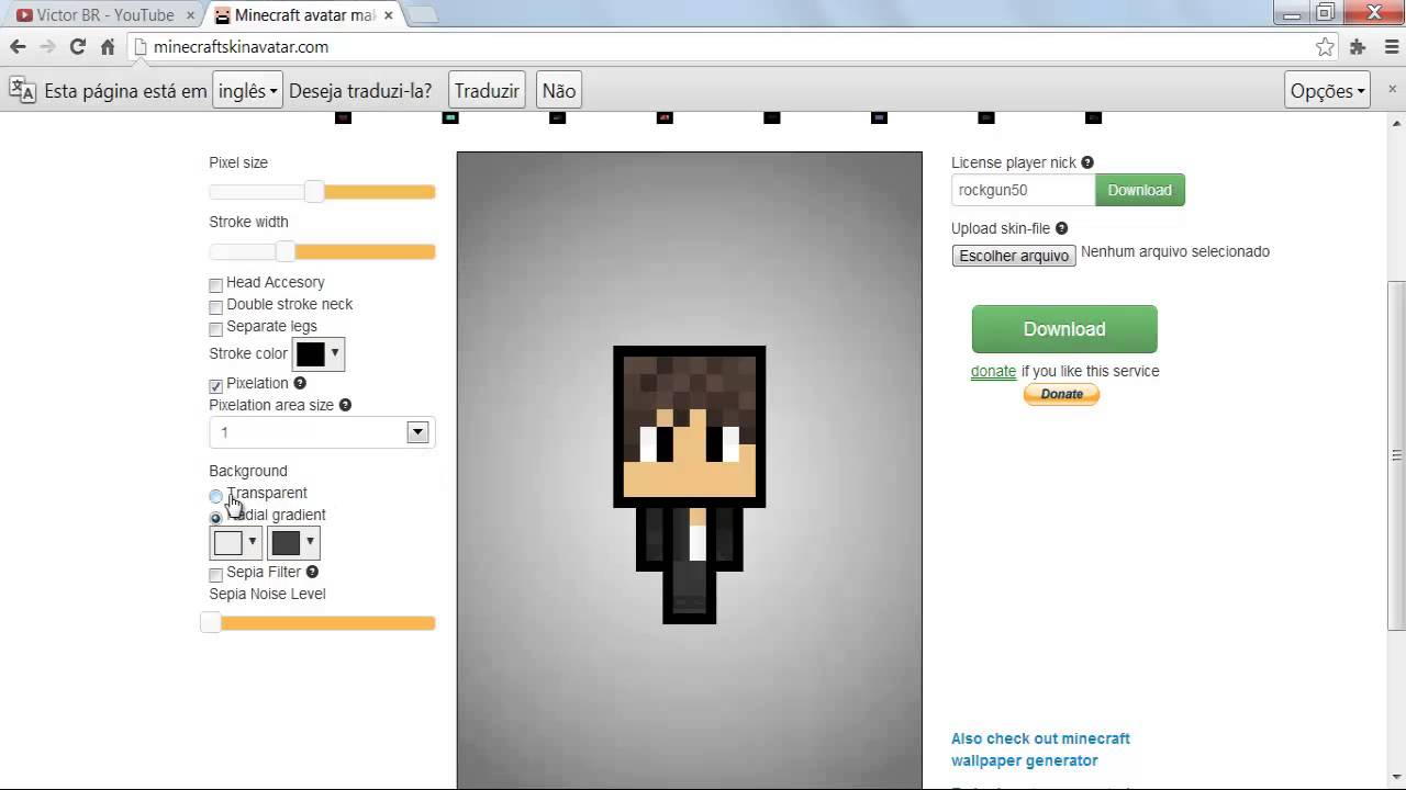 Minecraft Art Skin Maker Faça a Sua (Mini Skin)!!! -HD - YouTube