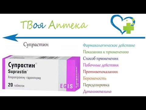 Супрастин таблетки - показания (видео инструкция) описание, отзывы