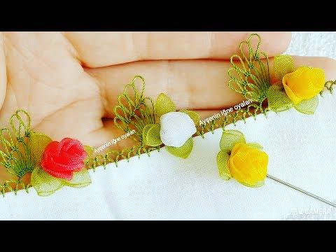 355.model MUHTEŞEM GONCA GÜL İĞNE OYASI VİDEO DO NOT FORGET TO LİKE FLOWER FLOOR rose  made