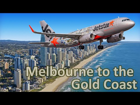 Jetstar - Melbourne to the Gold Coast - some real footage
