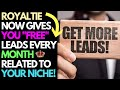 Royaltie Now Gives You Free Leads Related To Your Niche | Upline Networks 2019