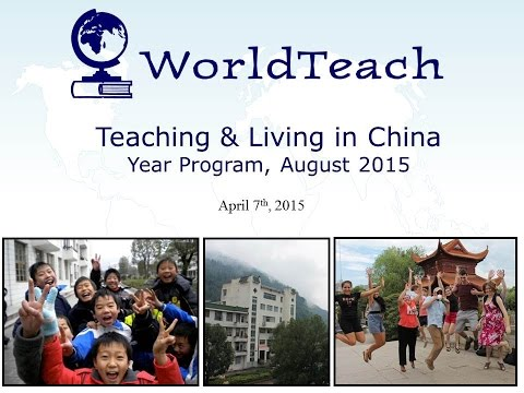 Webinar: Living and Teaching in China