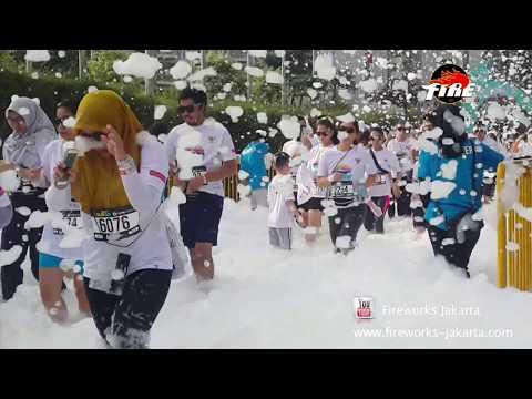 The Color Run CIMB Niaga 2017, Foam Party, Fireworks Jakarta