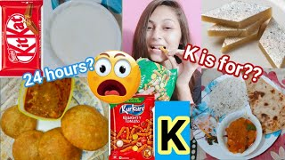 "I Only Ate Letter ""K"" Food For 24 Hours in Hostel  
