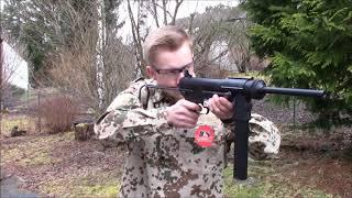 Airsoft ICS M3 Submashine Gun AEG Schusstest 0,5 Joule