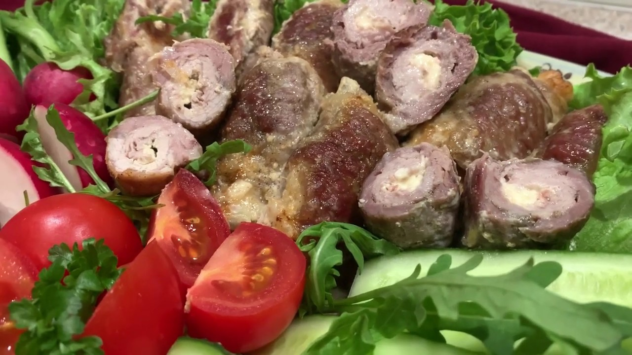Самые вкусные мясные рулетики с сыром (Крученики)