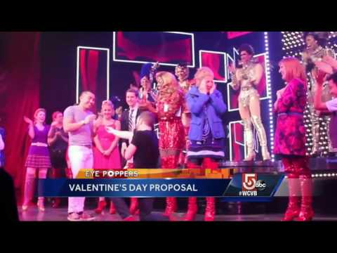 Boston man pops question on stage at 'Kinky Boots'