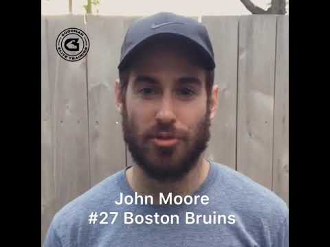 online retailer bb2ad bad28 #27 Boston Bruins John Moore on Training with Paul Goodman