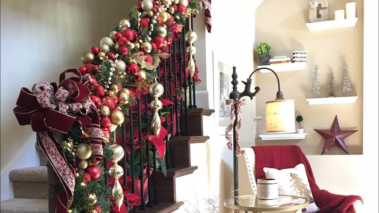 DIY Designer Christmas Garland Using Homegoods Ornaments - YouTube