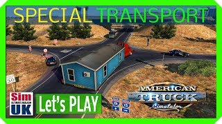 Moving a HOUSE! At LAST! American Truck Simulator Special Transport DLC FIRST LOOK (part 4)