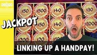 🔗 Linking Up A HANDPAY 💰 Dragon Link @ Aria Las Vegas ✪ BCSlots