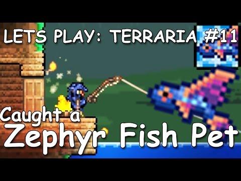 Lets play Terraria #11 | Caught a Zephyr Fish Pet !! | v 1.3