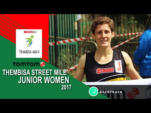 Lyndi Roelofse wins the 2017 TomTom Tembisa Streetmile Junior race