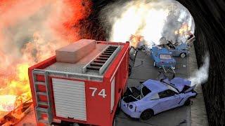 Massive Spike Strip Pileup Crashes #2 – BeamNG Drive | CrashBoomPunk