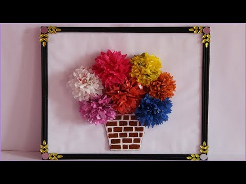 DIY | wall Hanging craft idea | Best reuse of waste plastic Bag/shopping Bags