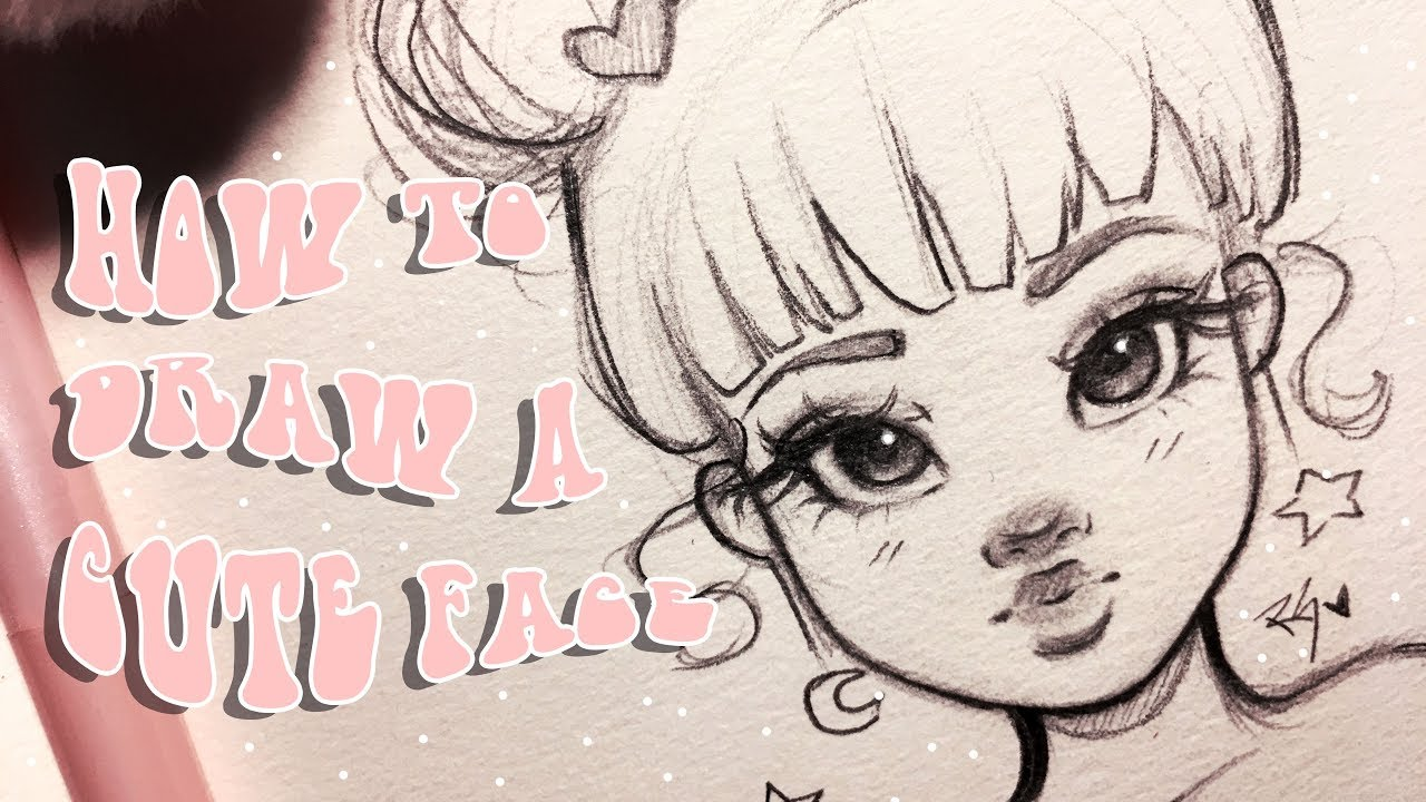 how to draw a cute face step by step with christina lorre