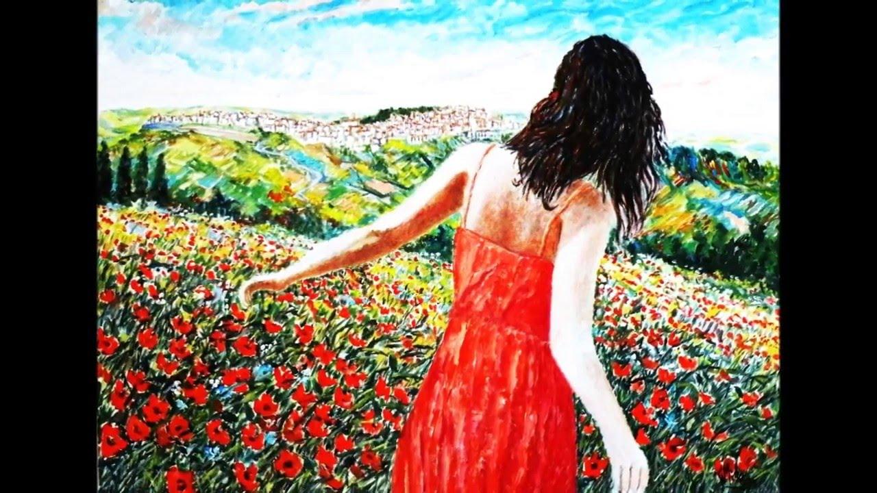 DONNA E NATURA nei dipinti di GAETANO MINALE - YouTube