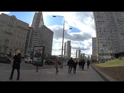 Walking on New Arbat Avenue - Novy Arbat - March 26 2017