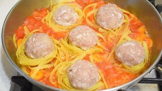 Вкуснота из Фарша за 30 минут! ✧ Макароны Гнёзда с Мясом и Овощами