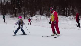 Обучение детей в группах (горные лыжи)