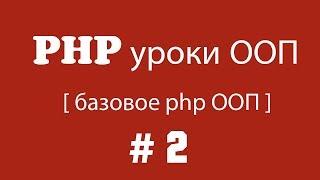 видео Инкапсуляция и спецификаторы доступа в PHP