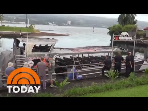 Flying 'Lava Bomb' Hits Hawaii Tour Boat, Injuring 23  TODAY