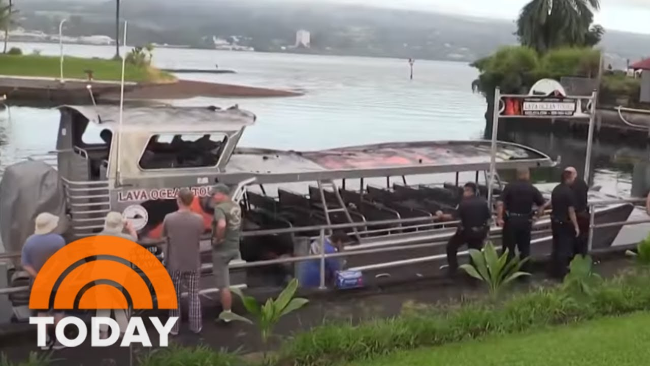 Flying 'Lava Bomb' Hits Hawaii Tour Boat, Injuring 23 | TODAY