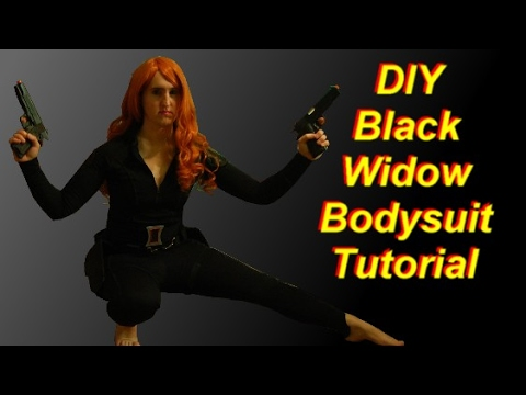 How To Make A Black Widow Costume Part 1 Bodysuit
