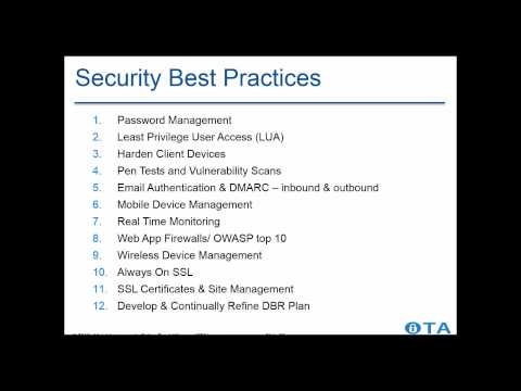 OTA Data Breach Legislation & Recap of White House Cyber Summit