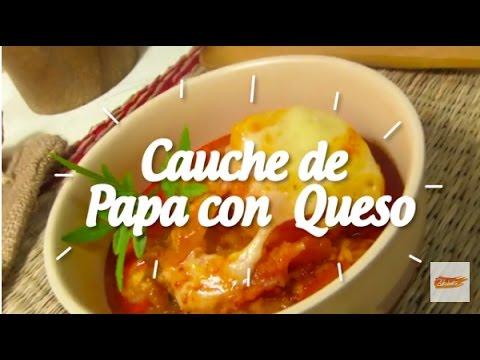 CAUCHE DE PAPA CON QUESO