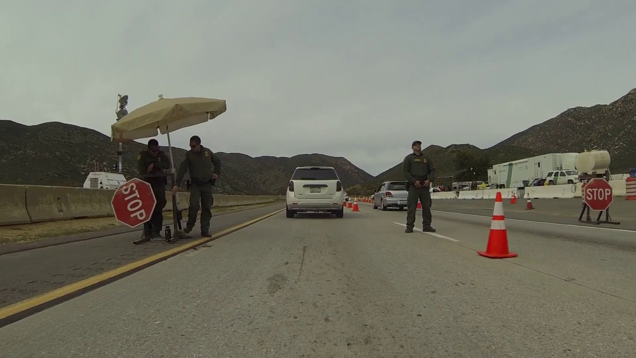 U.S. Border Patrol Checkpoint Agents in their Inland ...