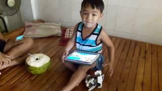 Visal Viseth vying for coconut