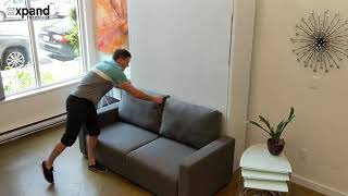 MurphySofa Minima with storage built in sofa demonstration