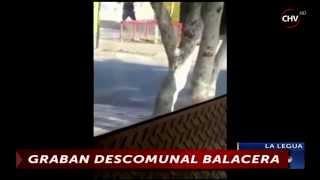 Registran brutal balacera entre dos sujetos a plena luz del día en La Legua - CHV Noticias