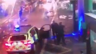 CCTV Shows Police Shooting London Bridge Attackers