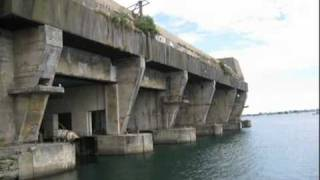 The Keroman former U-Boat base at Lorient, Brittany.