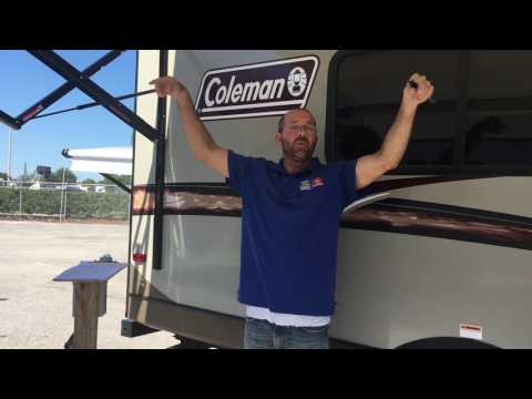 Orientation of our 1705rb Coleman Camper 5:27:17