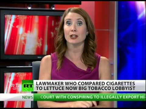 Lawmaker turns to lobbyist to promote tobacco industry