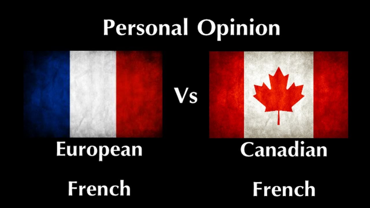 Euro French vs Canadian French